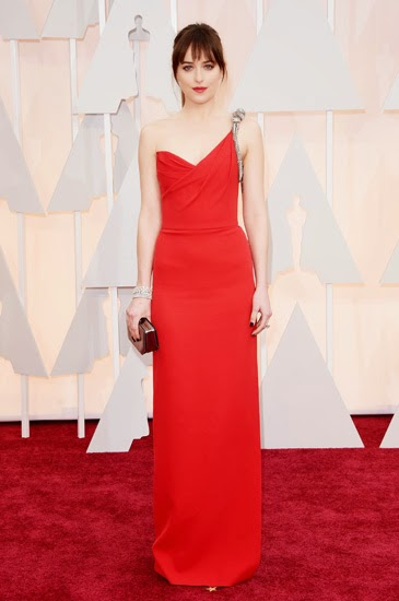 Dakota Johnson in Saint Laurent at Oscars 2015