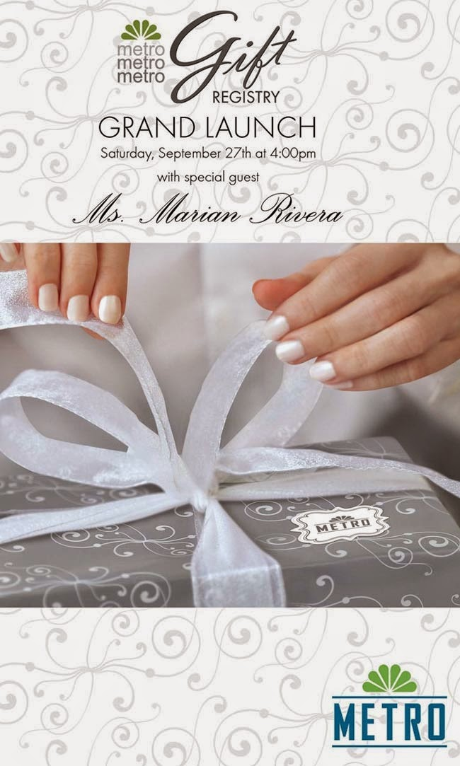 Metro Department Store to Launch Electronic-Based Metro Gift Registry: Bride-to-be Marian Rivera to grace event as Guest of Honor