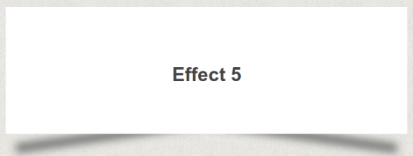 CSS Box Shadow Effect 5