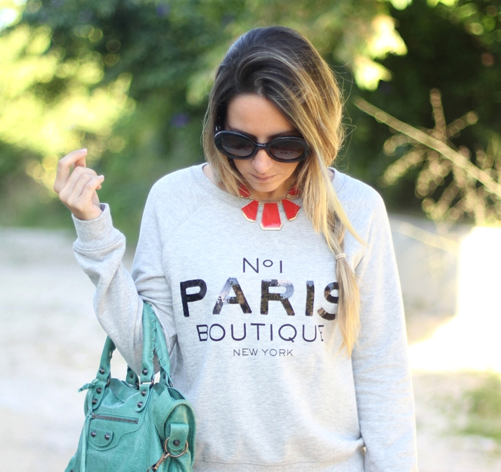 Paris sweater Mango by fashion blogger