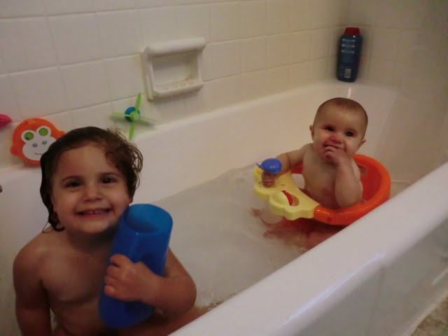 Family Bath Together First bath together the