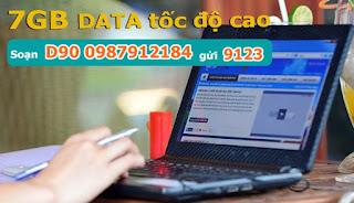 Đăng ký gói D90 Viettel cho Dcom 3G miễn phí 7GB data