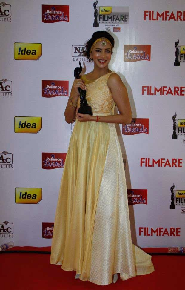 Manchu Lakshmi at 61st Idea Filmfare Awards 2013 (South)