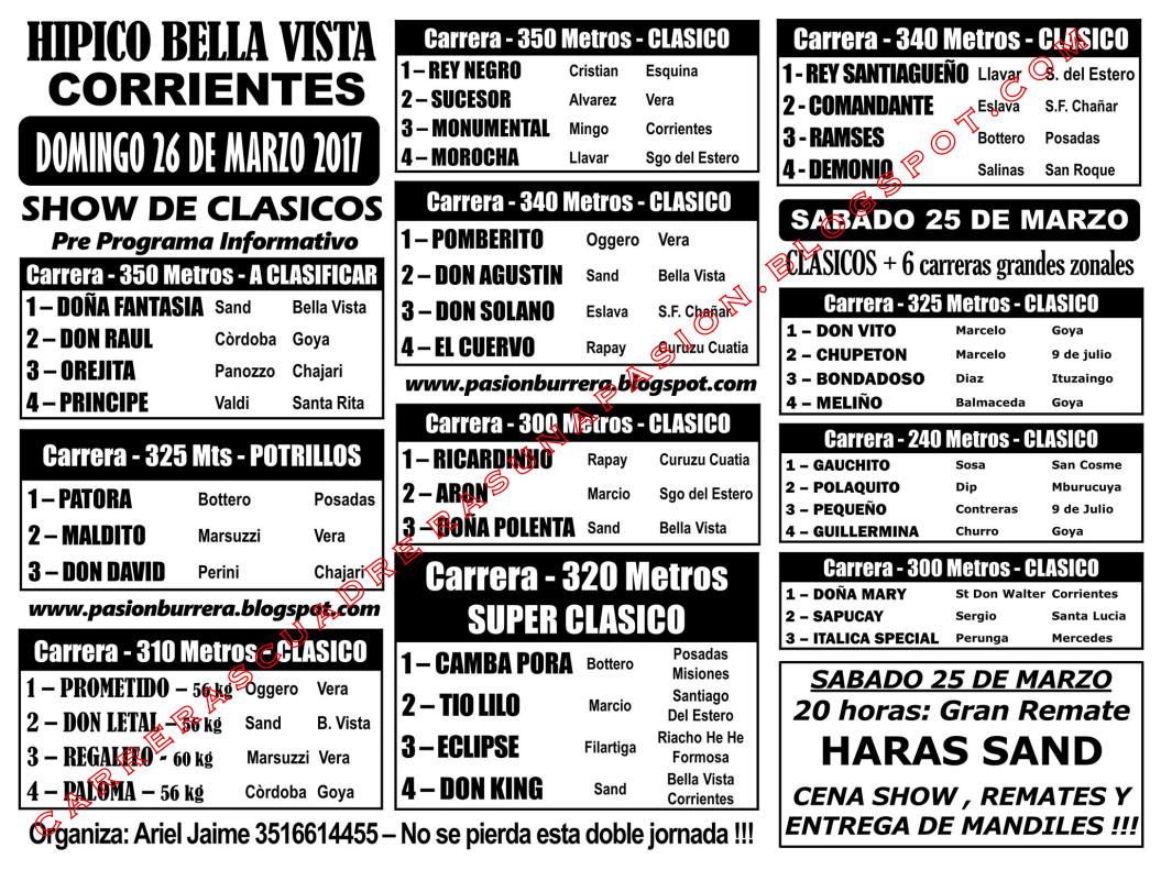 BELLA VISTA - PROGRAMA