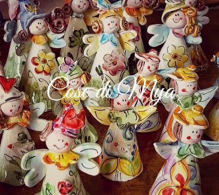 Angioletti in ceramica