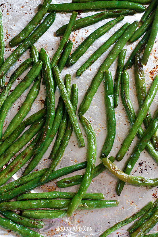 Cooking: Roasted Parmesan Green Beans