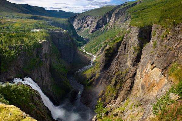 Cascada El Vøringfossen, Eidfjord, Noruega