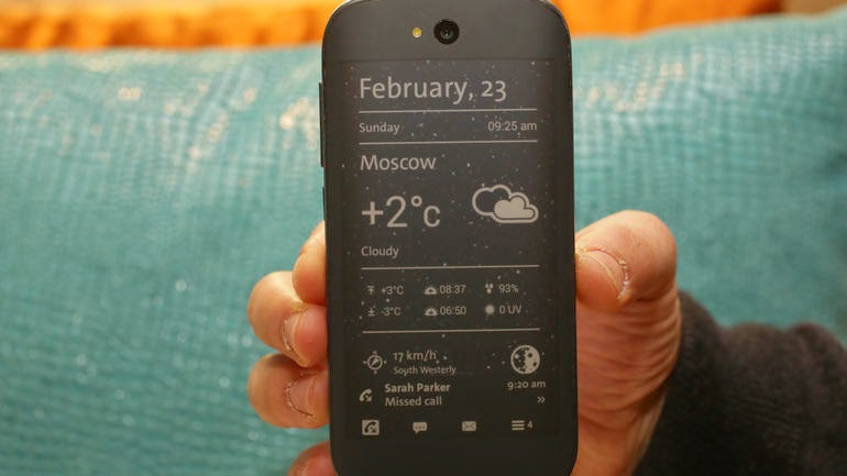 Ecran E-ink du Yota  Phone 2