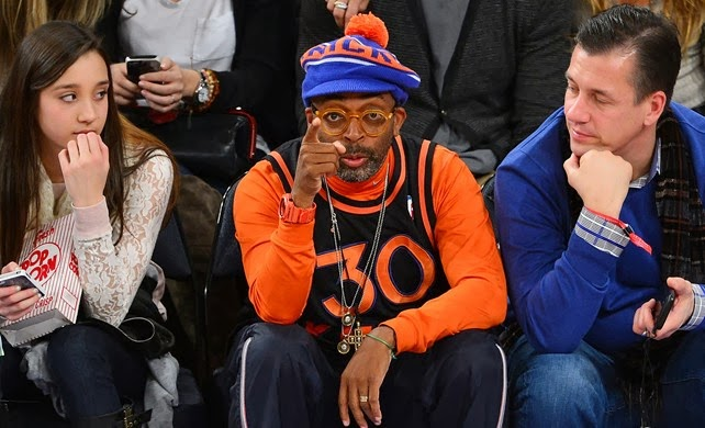 Spike Lee at a New York Knicks game