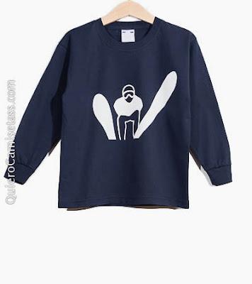 Camiseta Infantil Esquí Tienda Online de Camisetass QuieroCamisetass.com