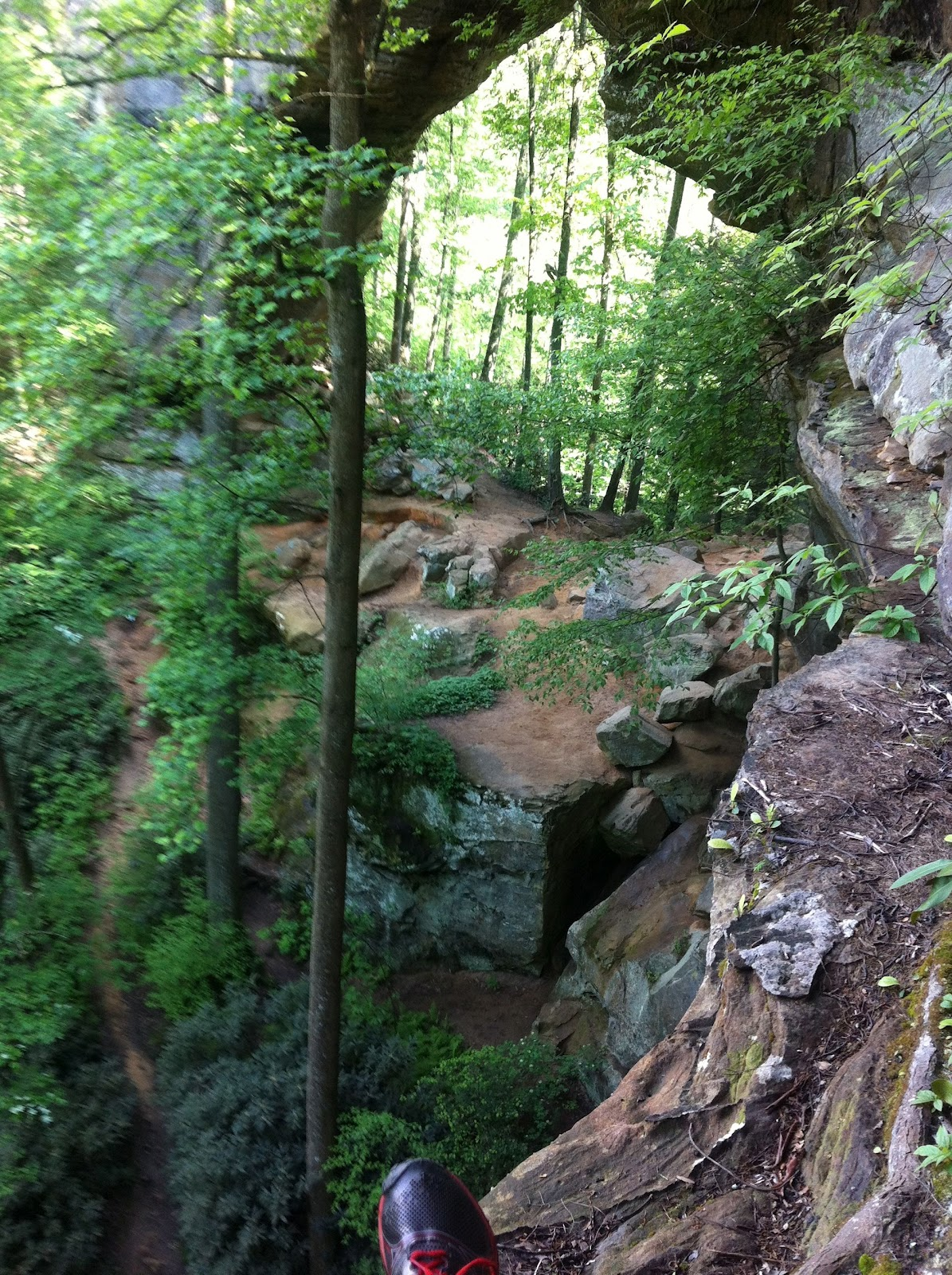 The Running Yoders Running At Red River Gorge Gray S Arch