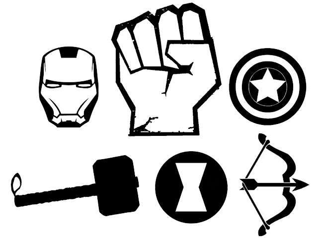 Avengers Symbol Coloring Pages : Doodlecraft the avengers t shirt and stencil