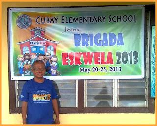 School Principal, Cubay Elem. School Brigada Eskwela 2013
