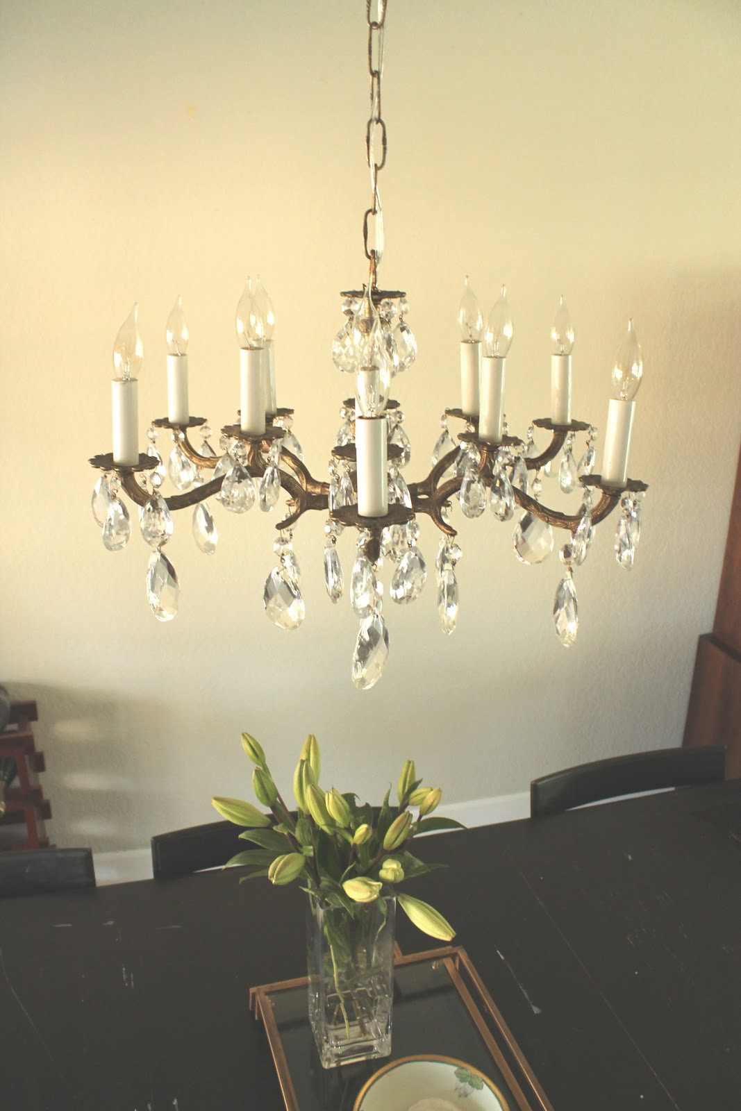 Now Let Us Begin The Install Of Vintage Brass Chandelier Here Is Original Post When I First Picked It Up Off Craigslist