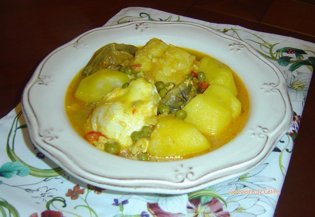 La cocina de catina patatas con bacalao y huevos - Cocinar bacalao congelado ...
