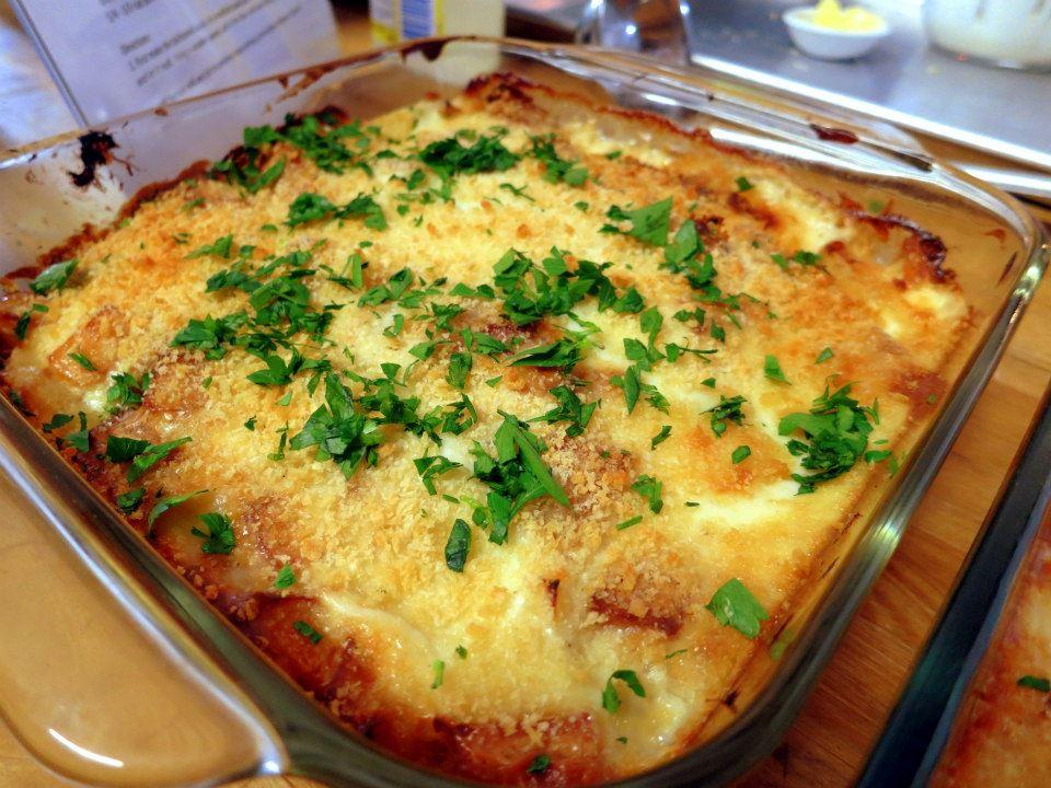 My portuguese kitchen bacalhau com natas cod with cream for Portuguese cod fish recipes