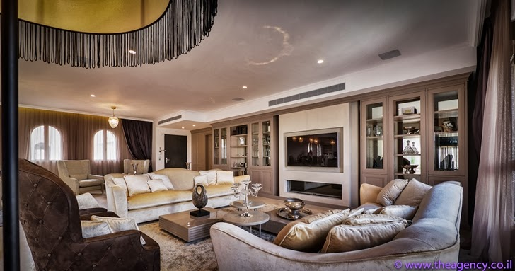 "Living room of an Elegant ""Jerusalem Dreams"" Penthouse Apartment"