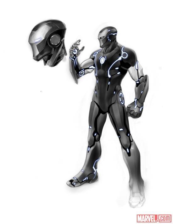 Os novos concept arts trazem novas armaduras que aparecer  227 o nas    Iron Man Stealth Armor Concept Art