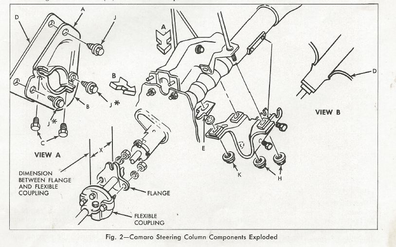 chevelle steering shaft diagram