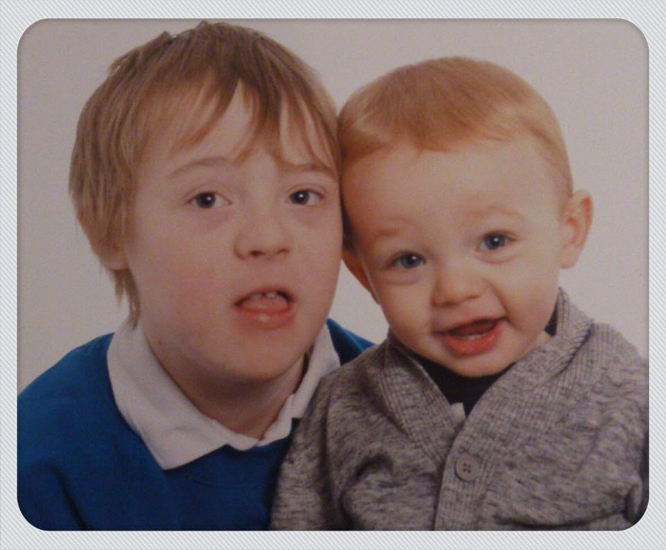 Kyd, Rocky, brothers, down syndrome, my life my son my way, cute, school photo,
