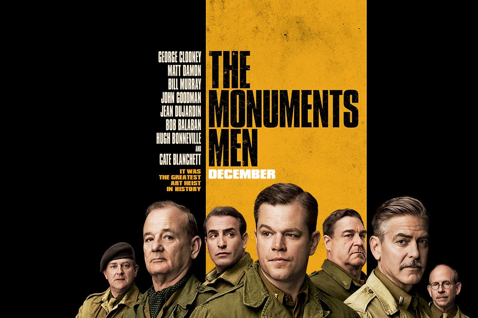 Capa Caçadores de Obras Primas Dublado AVI + RMVB Legendado Torrent The%2BMonuments%2BMen%2BFilm