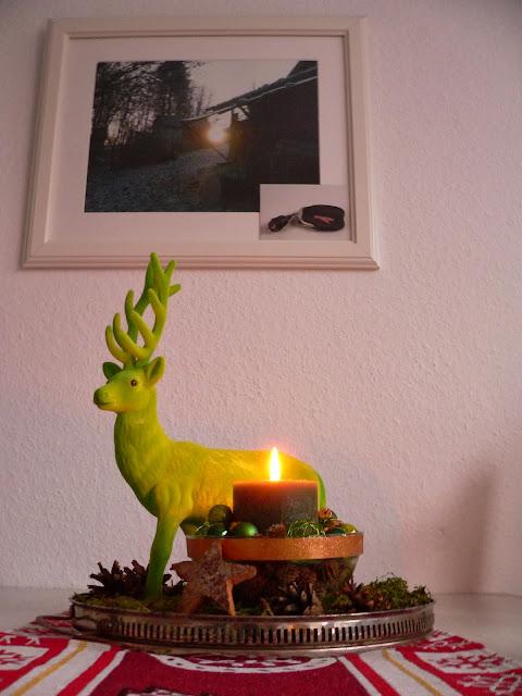 Weihnachten Deko Teller Hirsch
