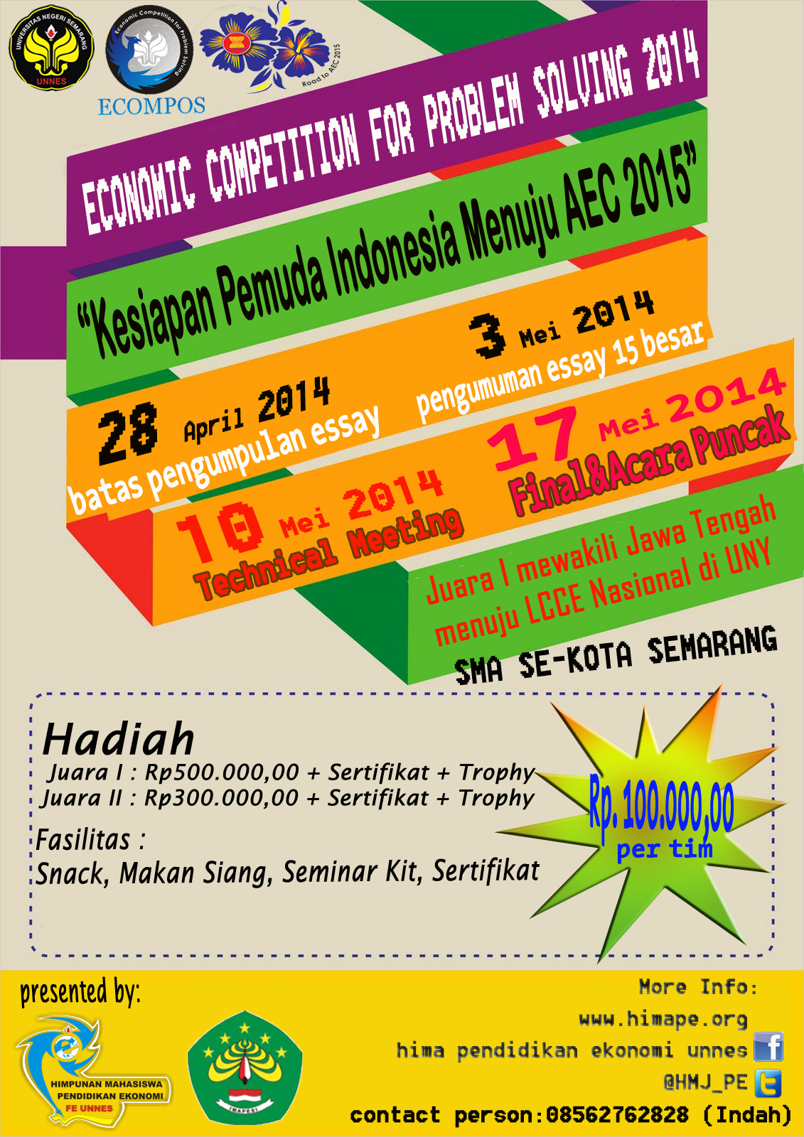 Let's Join Us! Economics Competition For Problem Solving (ECOMPOS) - Diundur