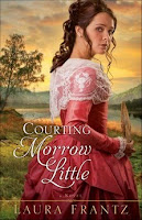 cover of Courting Morrow Little by Laura Frantz shows a brunette in a pink colonial dress