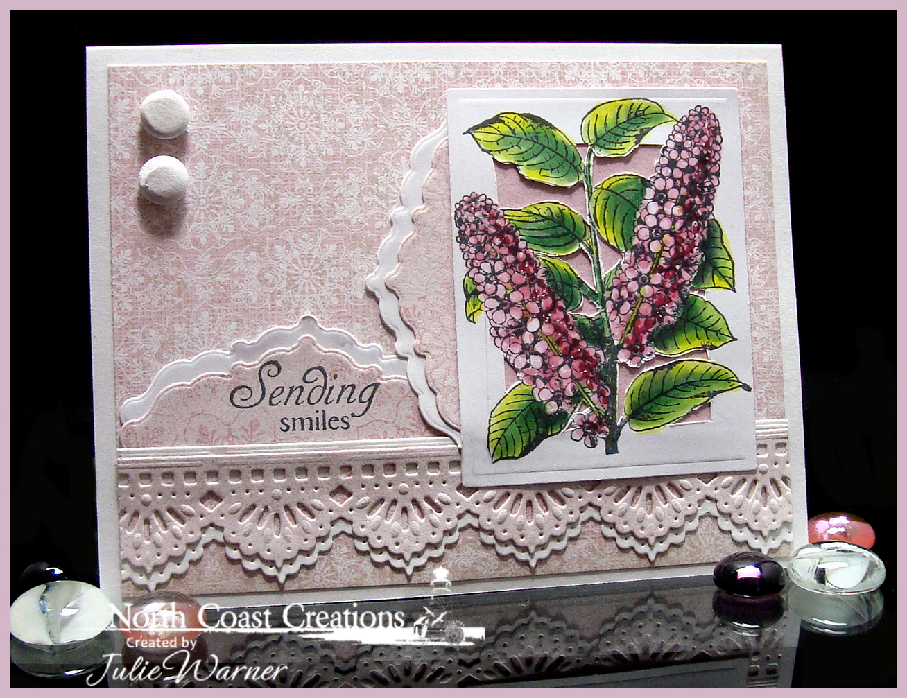 Stamps - North Coast Creations Floral Sentiments 4, ODBD Heart and Soul Paper Collection, ODBD Custom Ornate Borders and Flower Dies, ODBD Custom Beautiful Borders Dies