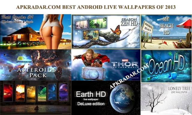 Top 20 Best Android Live wallpapers of 2013