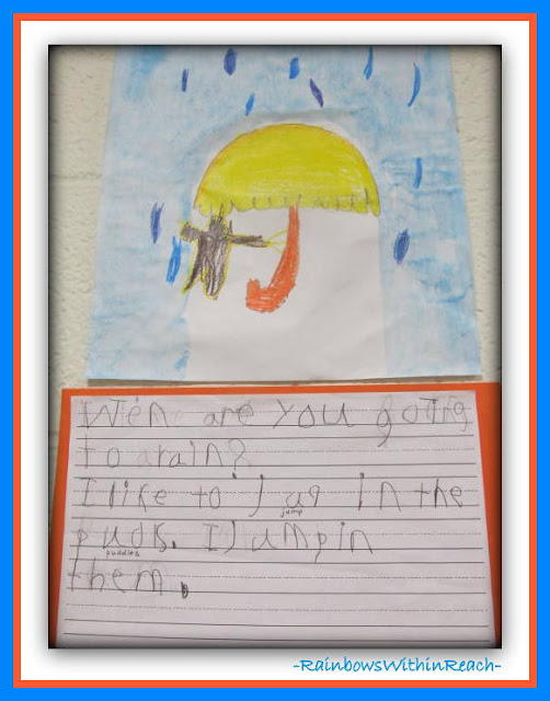 Kindergarten Weather Writing Project from Weather RoundUP at RainbowsWIthinReach