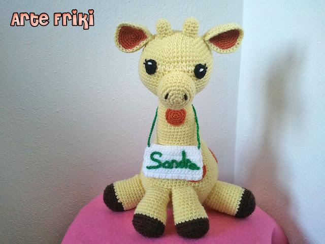 jirafa amigurumi giraffe amigurumi doll peluche muñeco ganchillo crochet