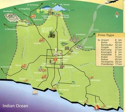 Mapa de Yogyakarta