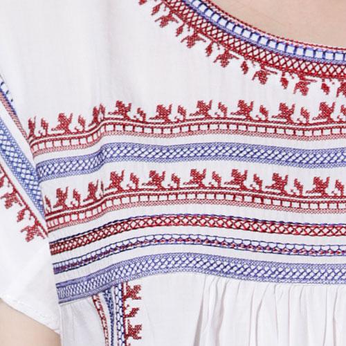 Bella Navajo Embroidered Top