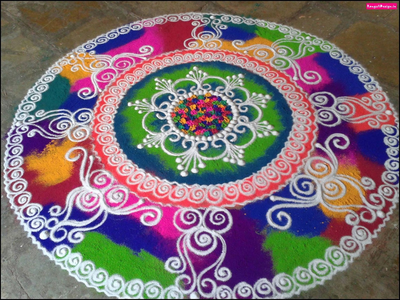 Rangoli Designs Love Birds Muggulu with Dots - New Year and Sankranthi Special - YouTube