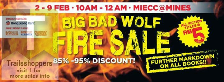 The Big Bad Wolf Fire Sale MIECC @ The Mines from 10am