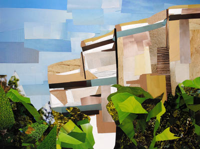 National Museum of the American Indian by collage artist Megan Coyle