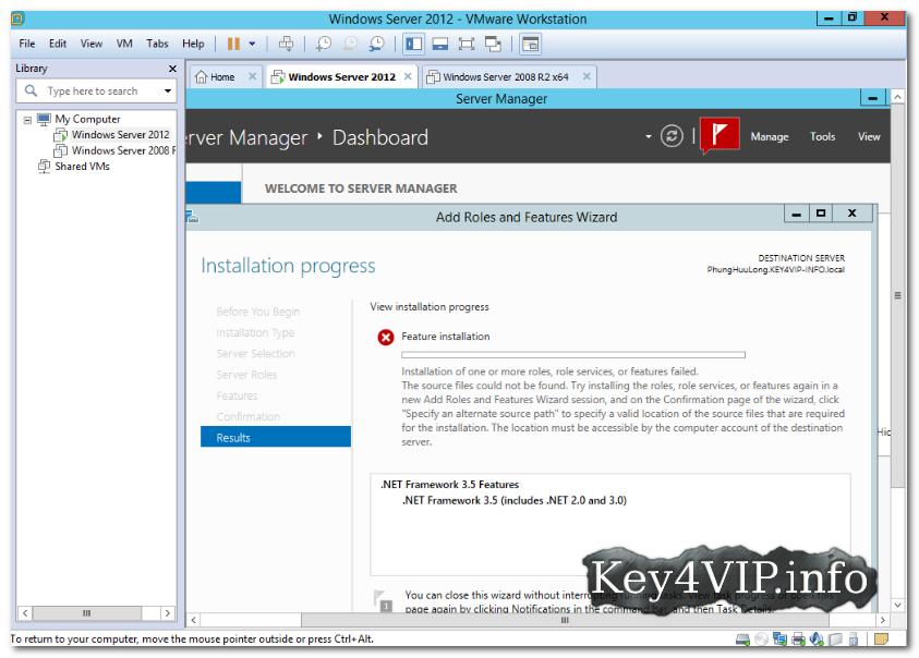 Hướng dẫn cài đặt Dotnet Framework 3.5 trên Windows Server 2012 và bản R2