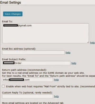 email setting fs contact form