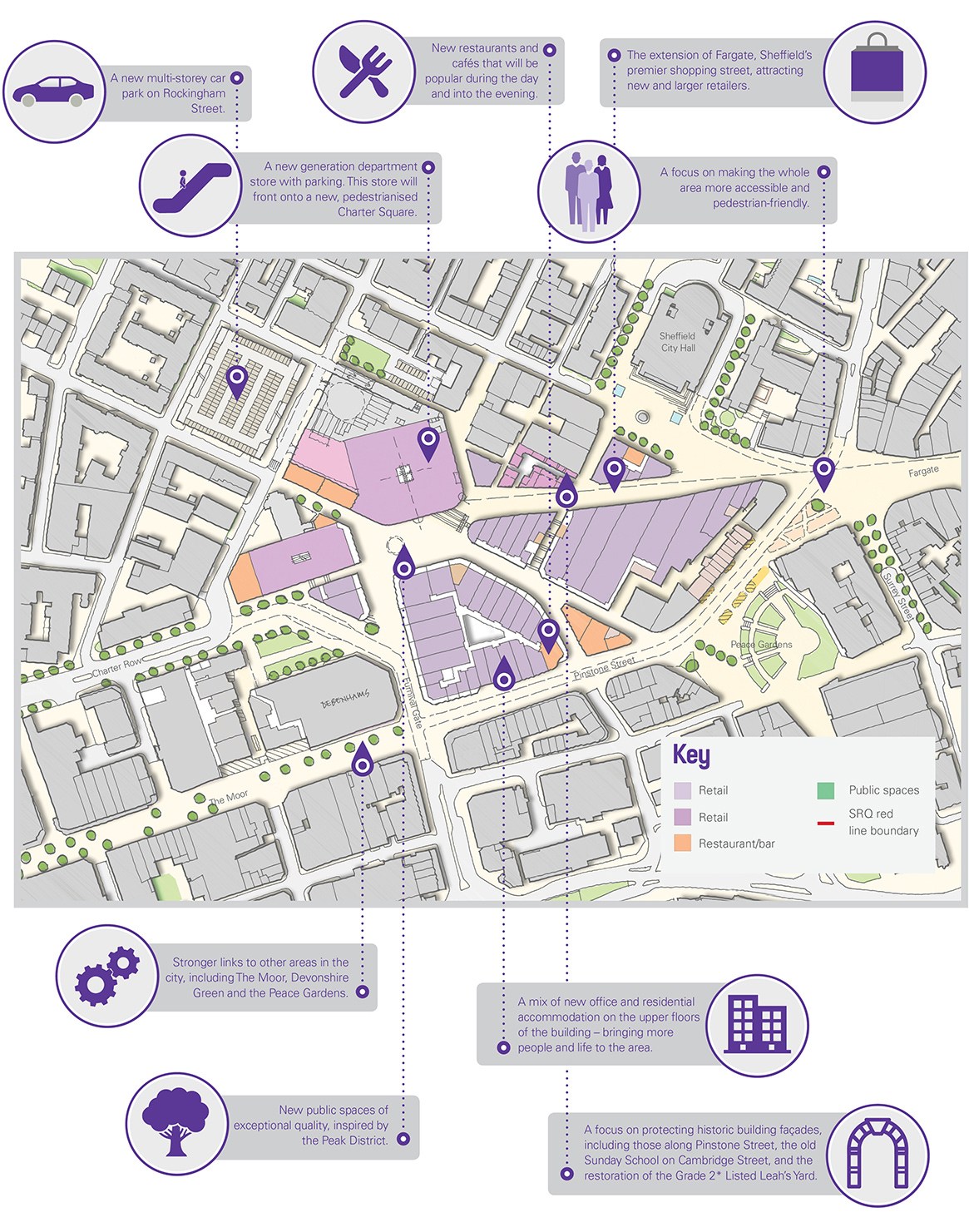 sheffield city council s map of the proposals is below