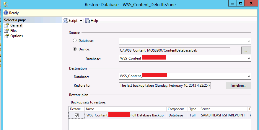 how to take backup of sharepoint web application