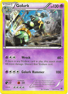 Golurk Furious Fists Pokemon Card