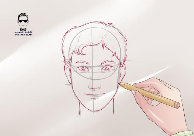 تعلم رسم الوجه بالرصاص للمبتدئين