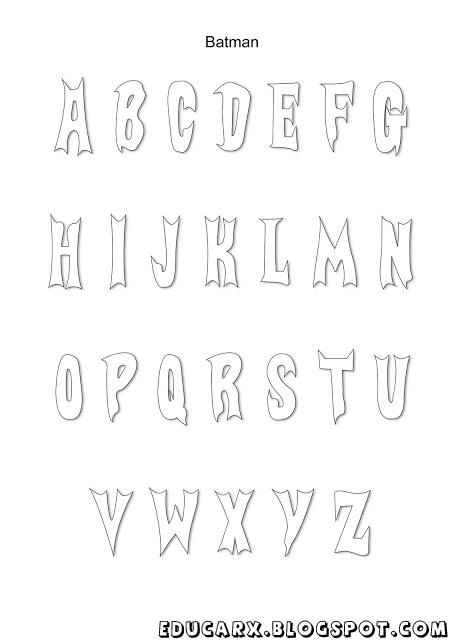Modelo de letras batman