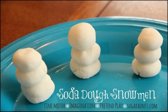 Soda Dough Snowmen