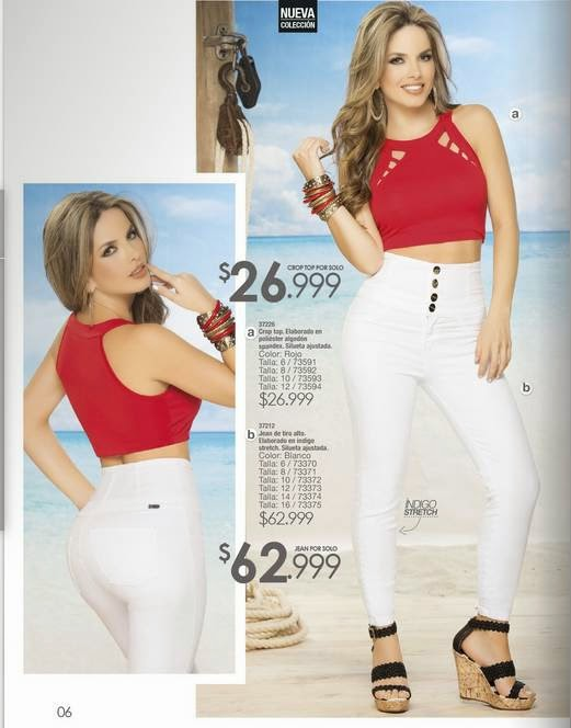 Crop top y jean Carmel C-4 2015