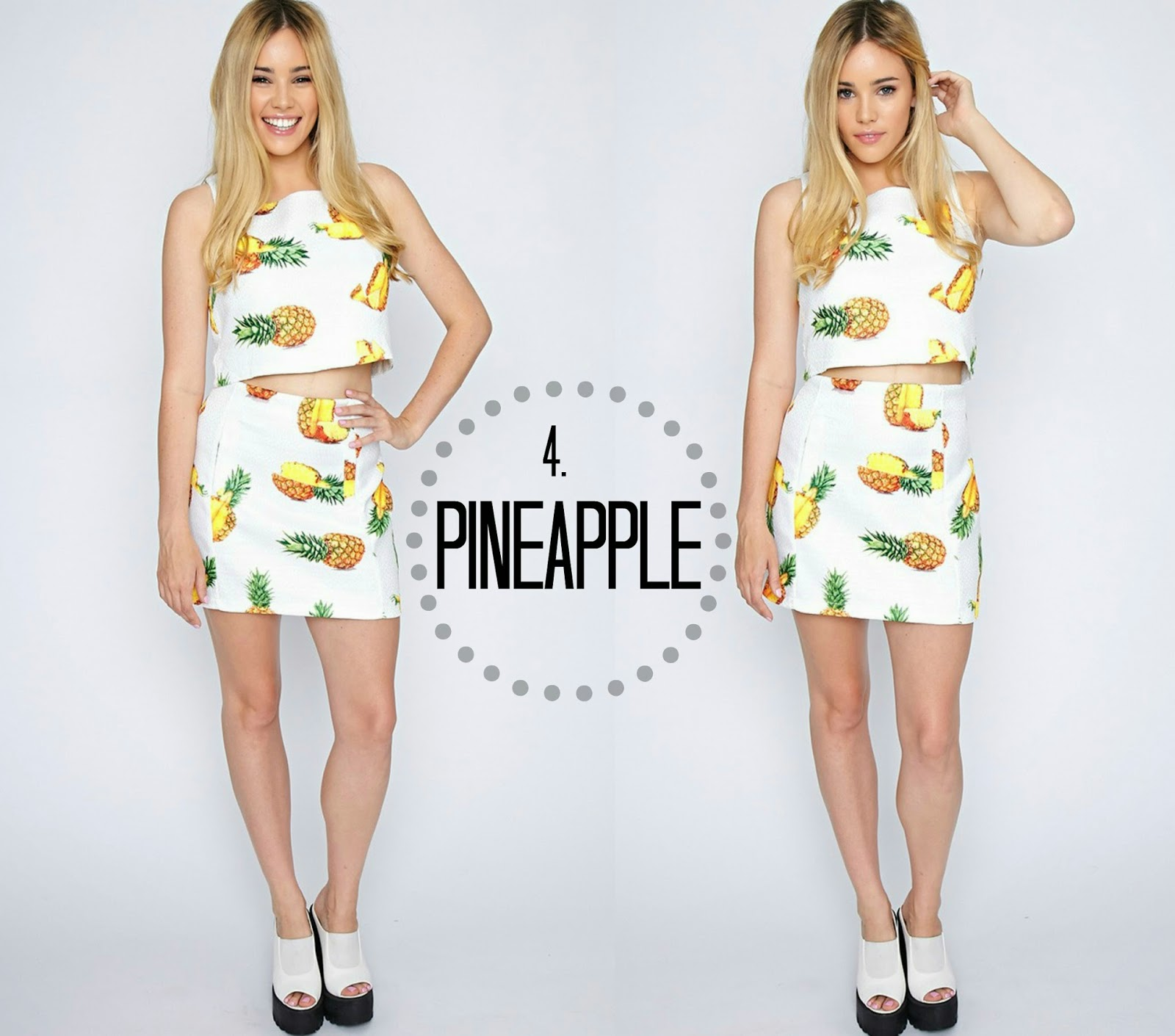 Pretty Little Thing Pineapple Co-ord Summer
