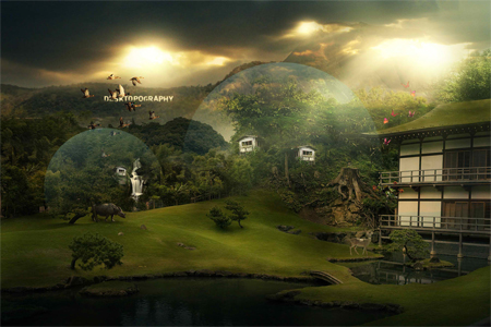 Nature Photo Manipulation: Desktopography 2008