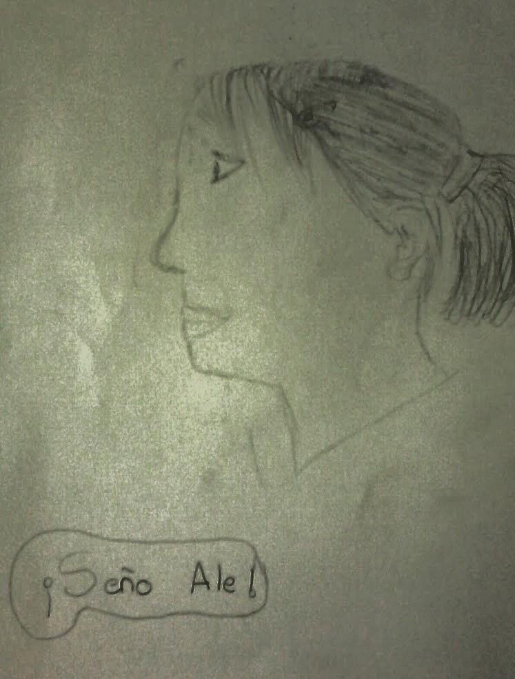 La seño Ale retratada por Marti Lopez.