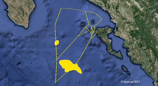 κοίτασμα Πύρρος - θαλάσσιο οικόπεδο 2 βρίσκεται ανοιχτά της Κέρκυρας
